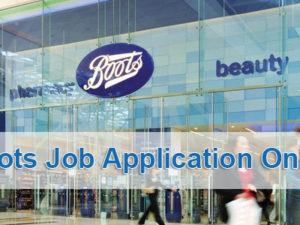 Boots Job Application Online