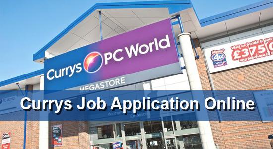 Currys Job Application Online