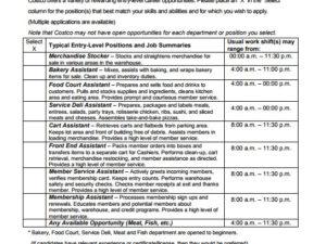 Costco Job Application PDF