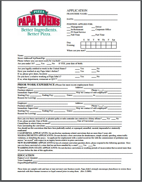 papa john s application pdf download print out 2018