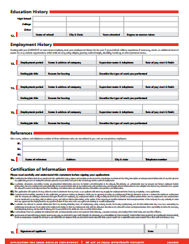 SONIC Drive In Job Application PDF - Page 2