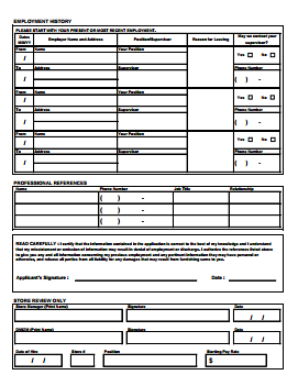 Against All Odds Job Application PDF - Page 2