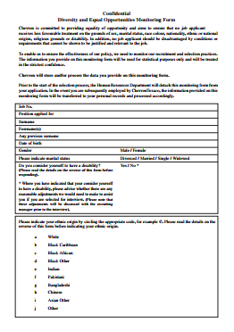 Chevron Job Application PDF - Page 4