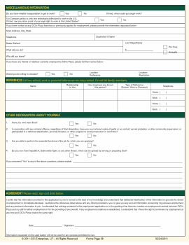 CiCi's Pizza Job Application PDF - Page 2