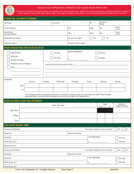 CiCi's Pizza Job Application PDF