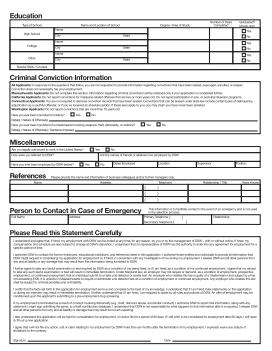 DSW Job Application PDF - Page 2