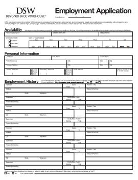 DSW Job Application PDF