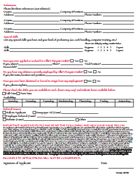 Ollies Bargain Outlet Job Application PDF - Page 2