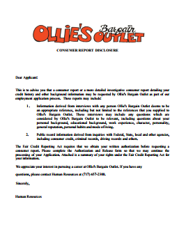 Ollies Bargain Outlet Job Application PDF - Page 3