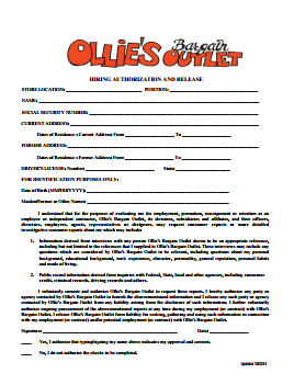 Ollies Bargain Outlet Job Application PDF - Page 4