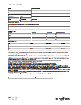 PUMA Job Application PDF - Page 2
