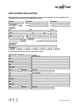 PUMA Job Application PDF